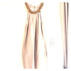 Beaded collar halter neckline dress